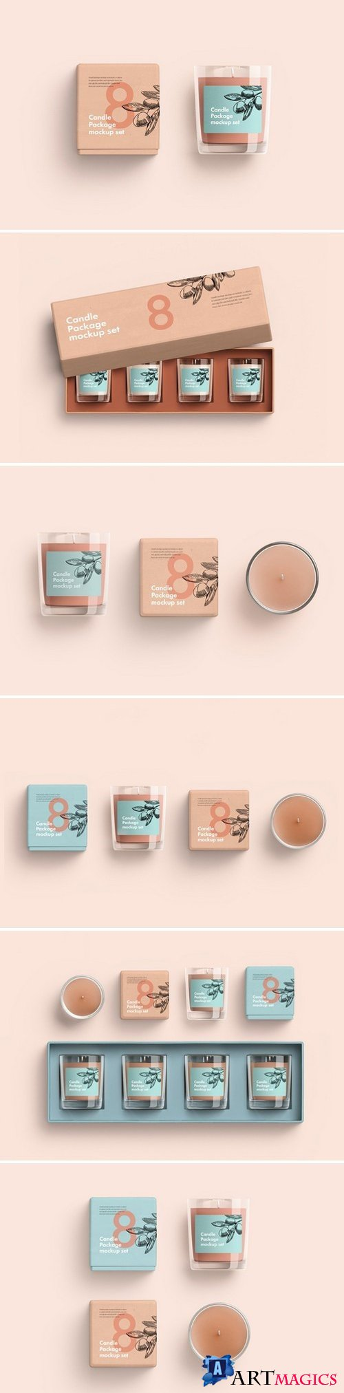 Candles Package Mockup set 2354872