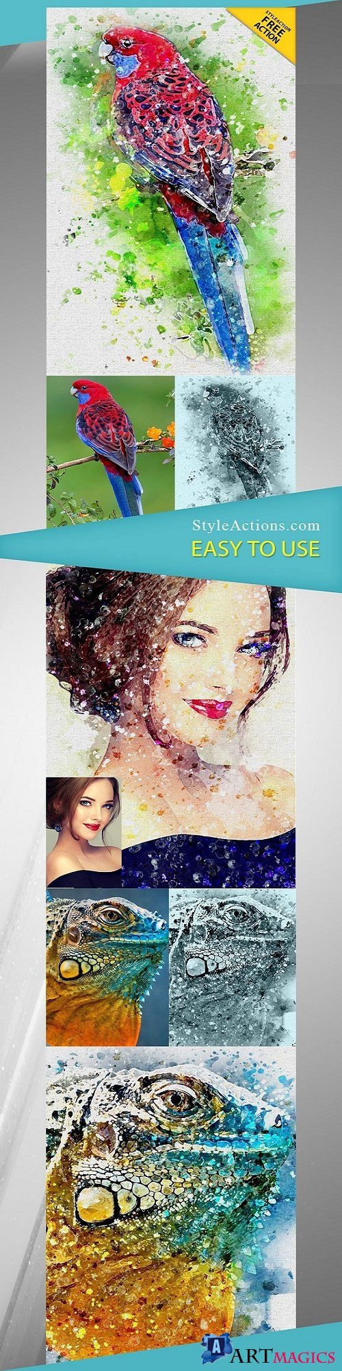 StyleActions - Aquarelle Photoshop Action