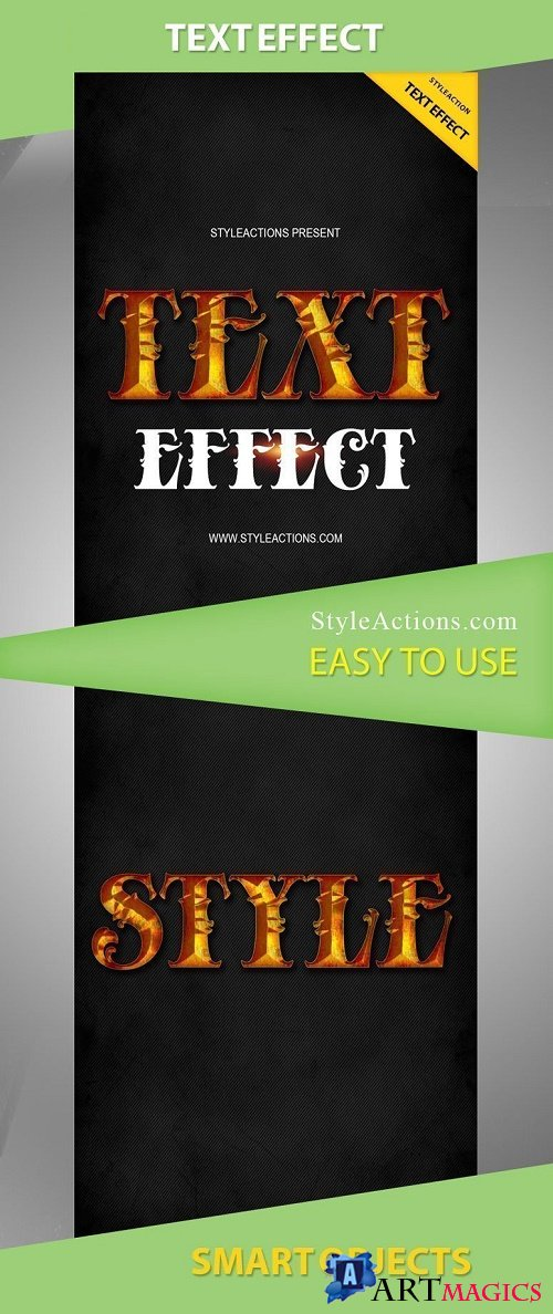 StyleActions - Text Effect Photoshop Action