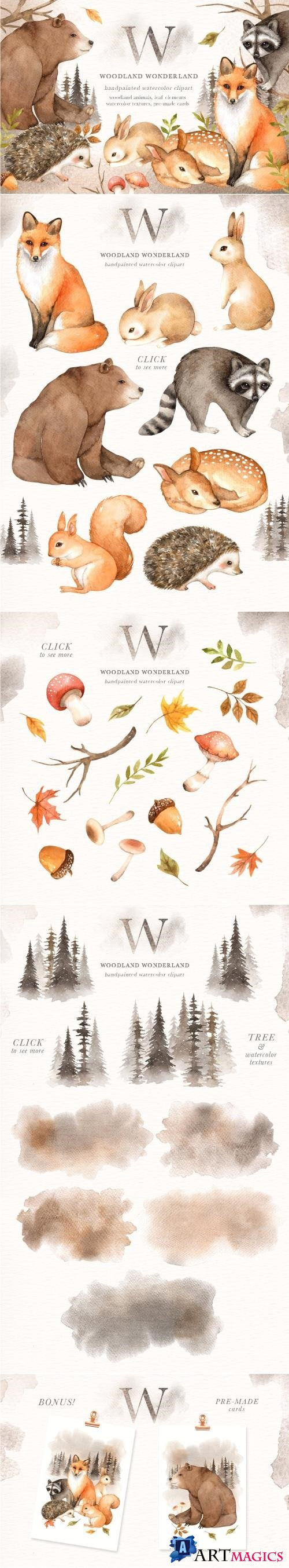 Woodland Wonderland Clip Art - 2370479