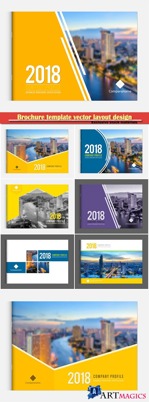 Brochure template vector layout design, corporate business annual report, magazine, flyer mockup # 160