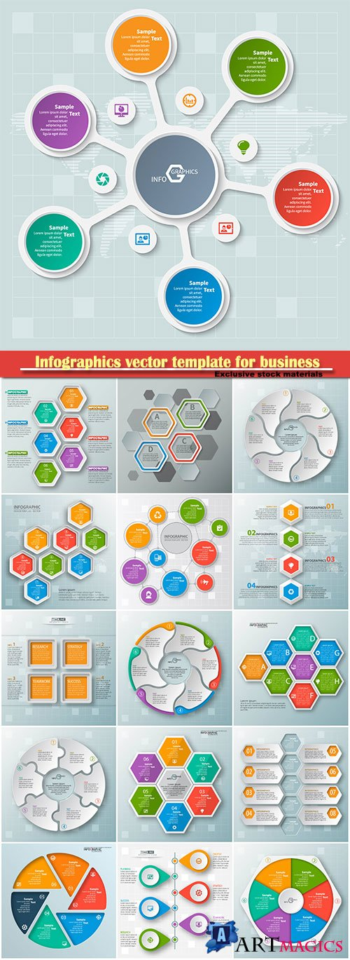 Infographics vector template for business presentations or information banner # 52