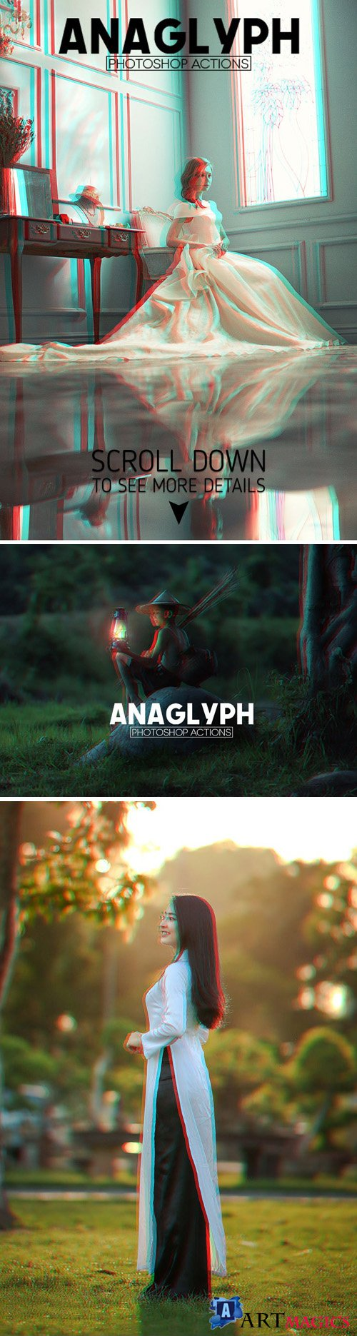 3D Anaglyph Photoshop Actions