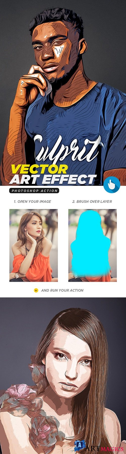 Vector Art Photoshop Action 21669828