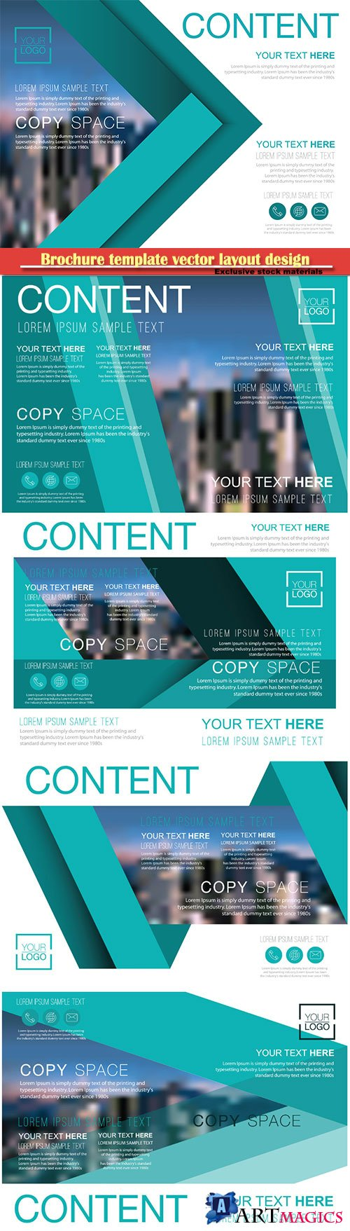 Brochure template vector layout design, corporate business annual report, magazine, flyer mockup # 163