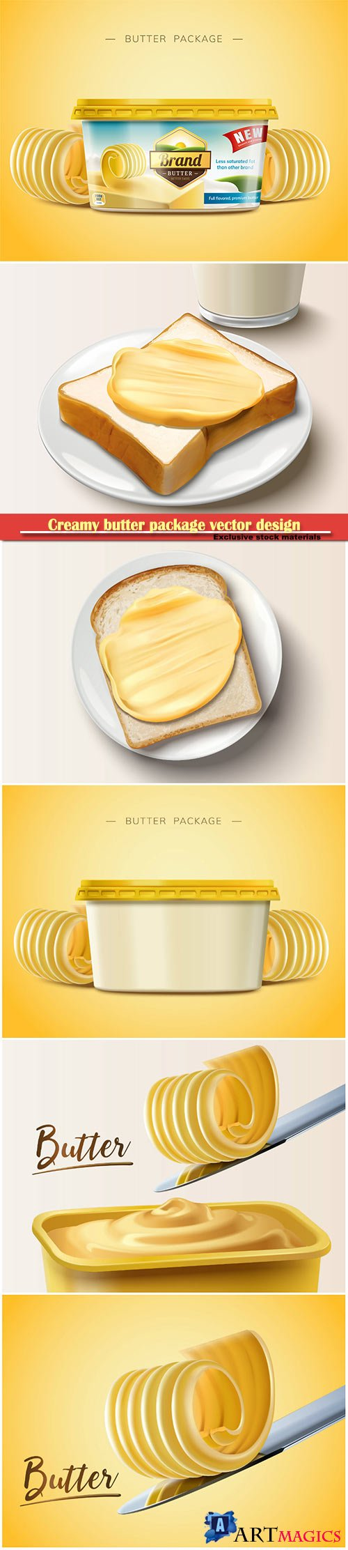 Creamy butter package vector design