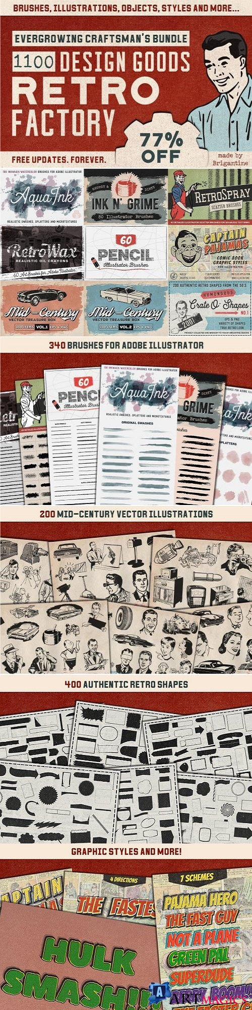 Retro Factory Bundle - 2265474