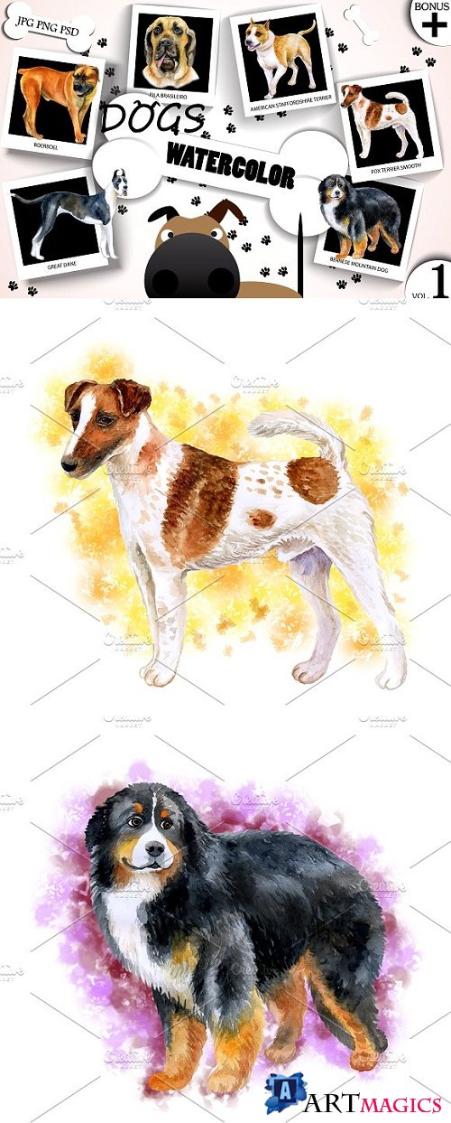 Watercolor Dogs - Collection 1 of 12 - 1716941