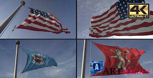 3D Flag Loop Maker - Project for After Effects (Videohive)