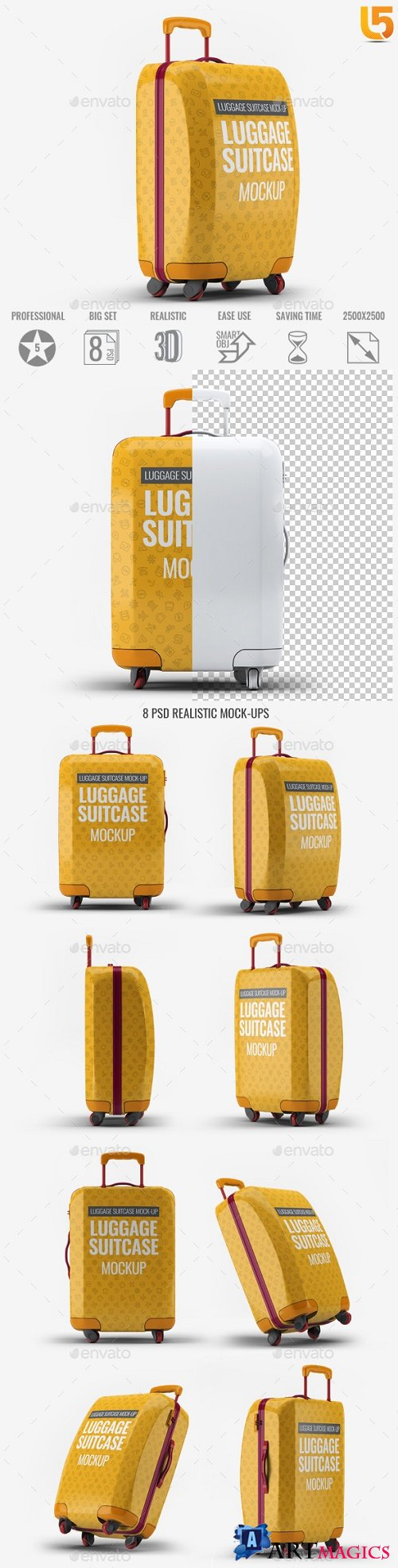 Luggage Suitcase Mock-up 21789981