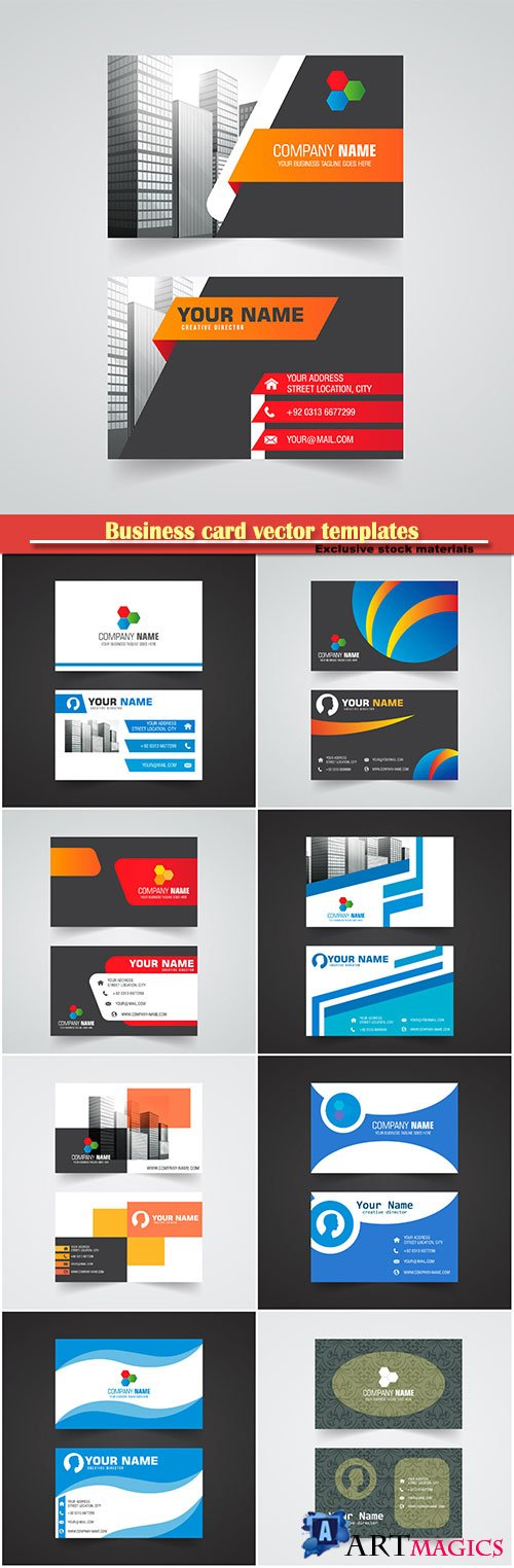 Business card vector templates # 37