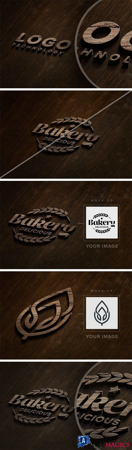 Wooden Logo Mock-up 2449278