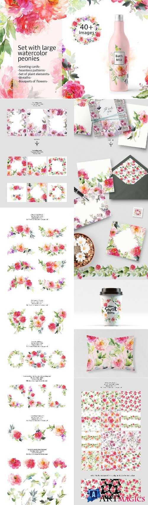 Set of Peonies DIY 1565678
