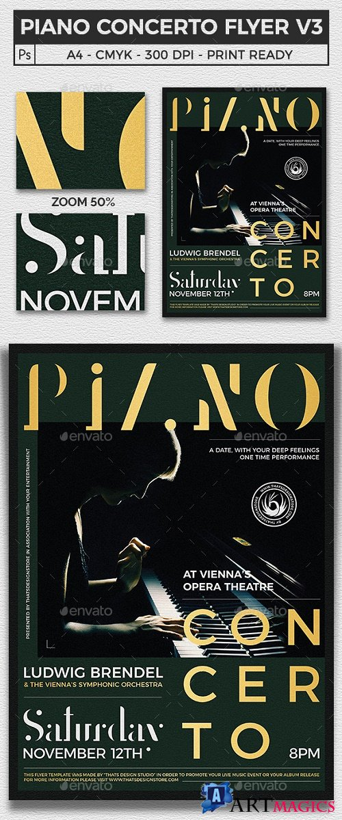 Piano Concerto Flyer Template V3 21788890