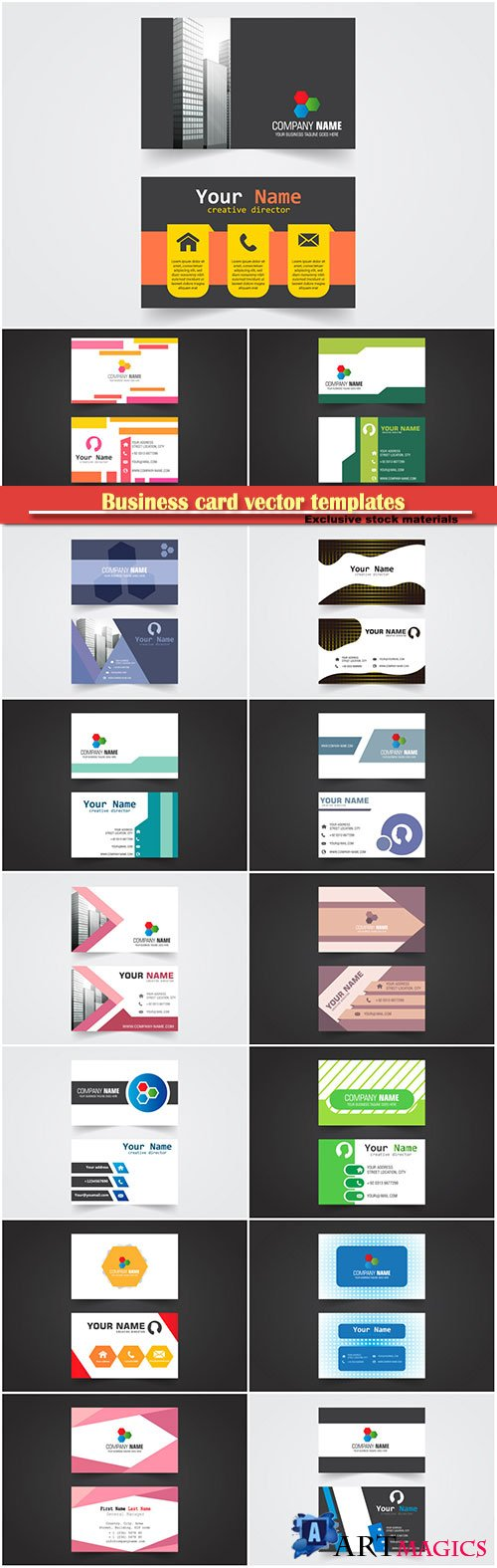 Business card vector templates # 39