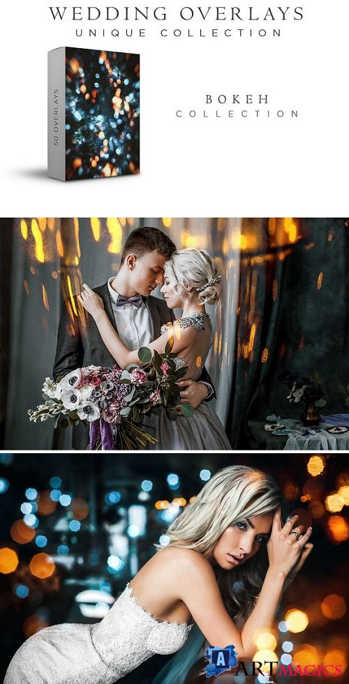 Wedding Overlays Bokeh Collection