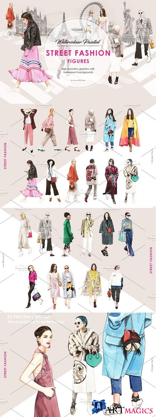Street Fashion Illustrations 2444525