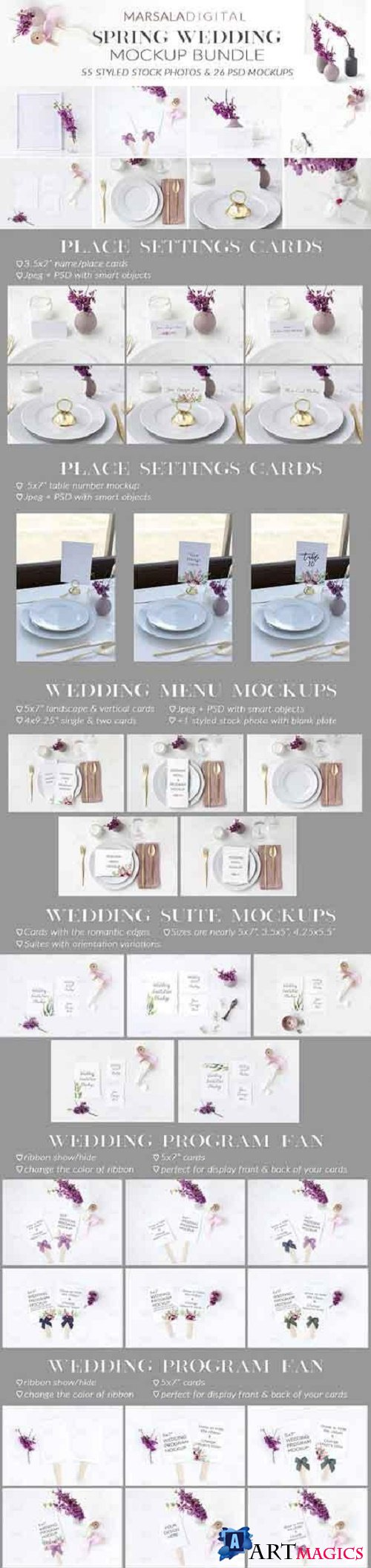 Spring Wedding Mockup Bundle 2473252