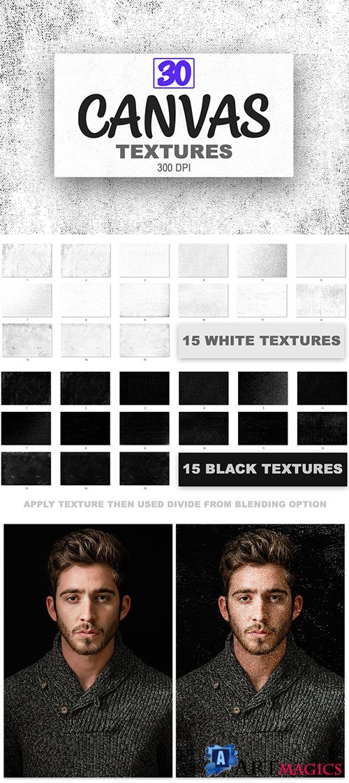 30 Canvas Textures Backgrounds