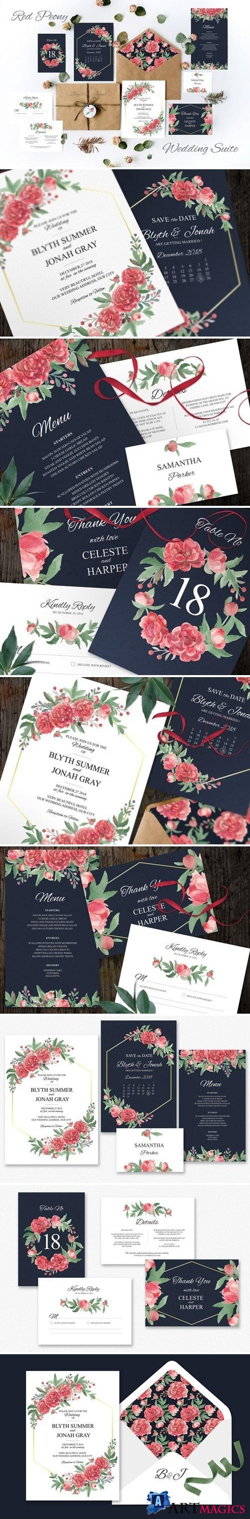 Red Peony Wedding Suite 2458091