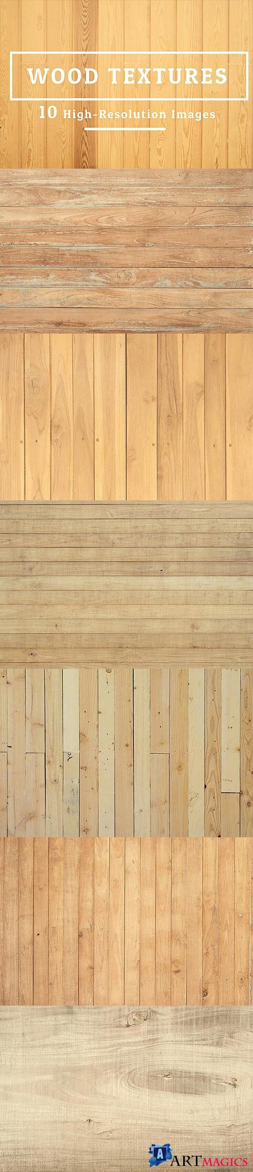 10 Wood Texture Background
