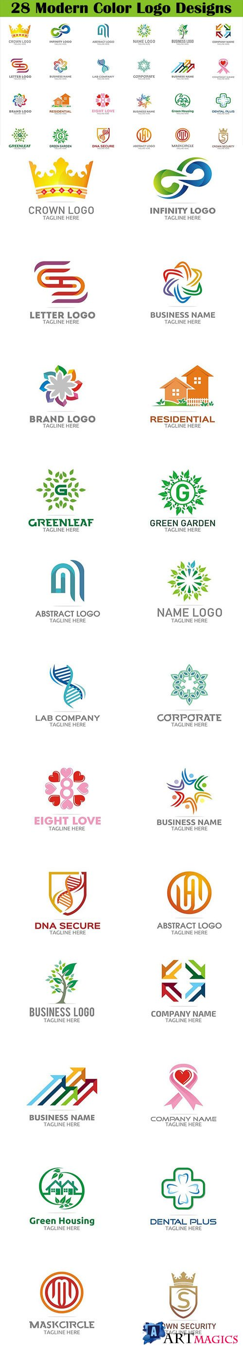 28 Modern Color Logo Designs