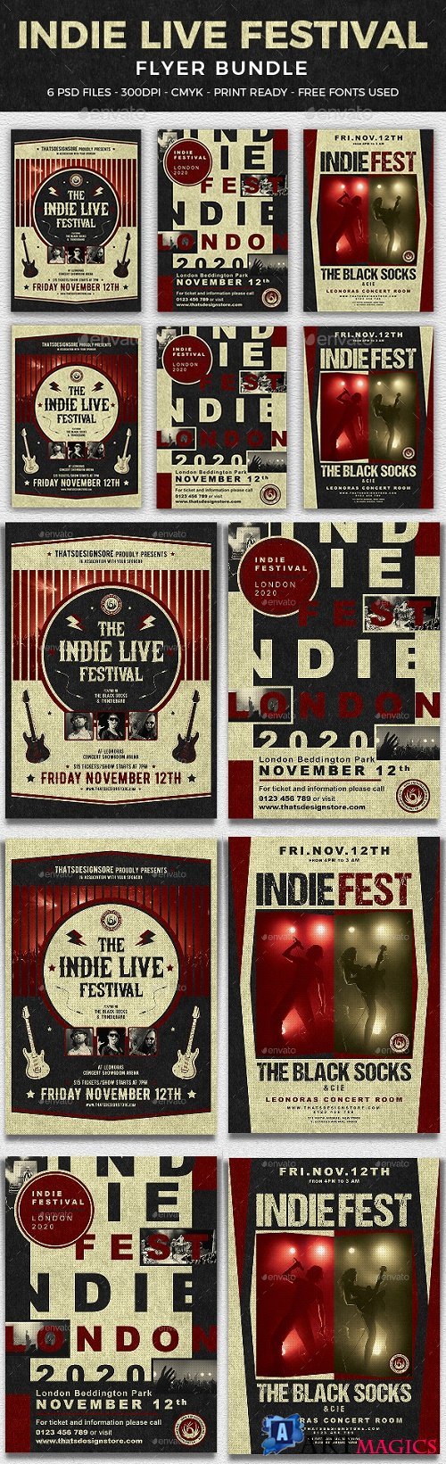 Indie Live Festival Flyer Bundle 21468861
