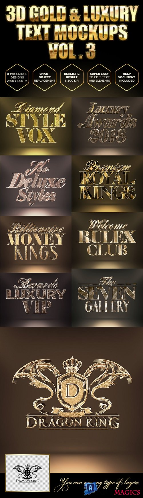 Gold Text Effects - 21207848