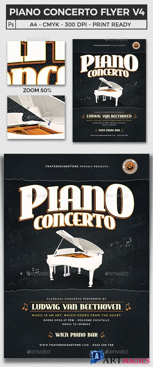 Piano Concerto Flyer Template V4 21921932