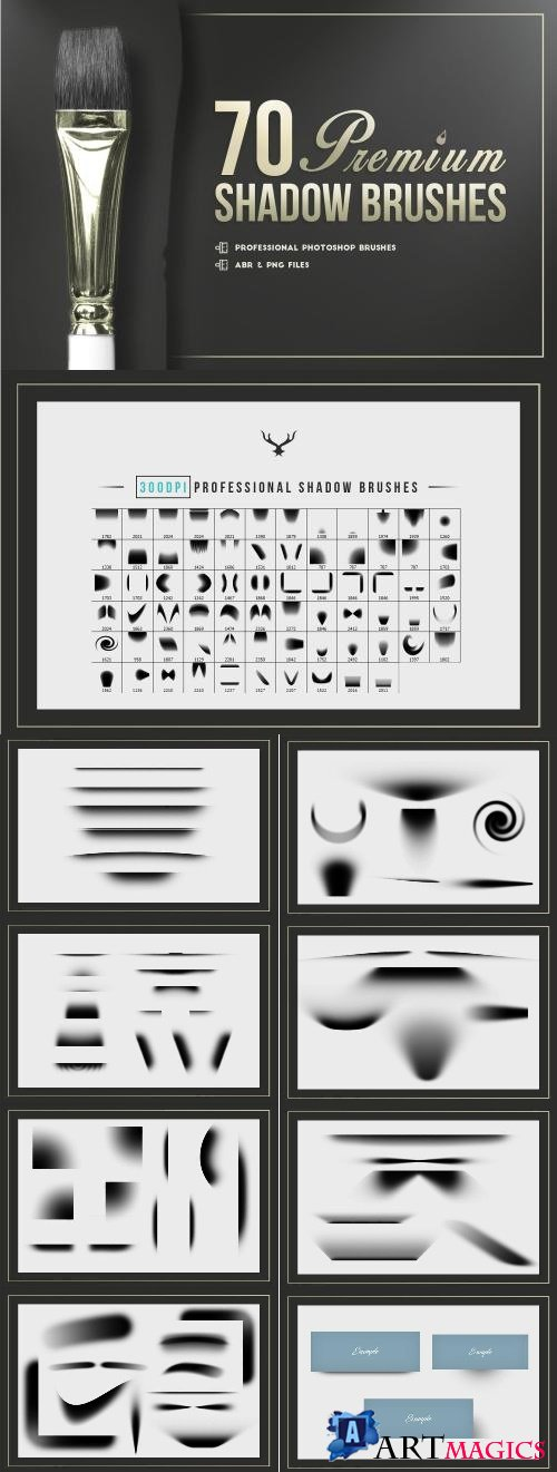 70 Premium Photoshop Shadows Brushes - 2537472