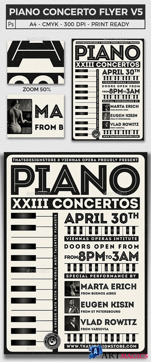 Piano Concerto Flyer Template V5 21937278
