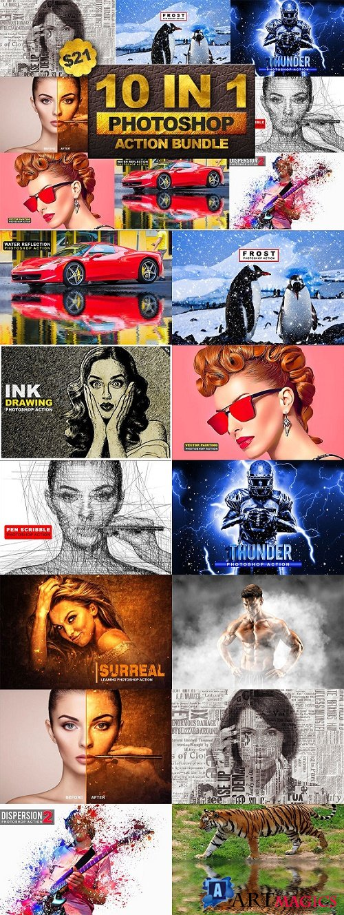 10 in 1 Photoshop Action Bundle 2 2545082
