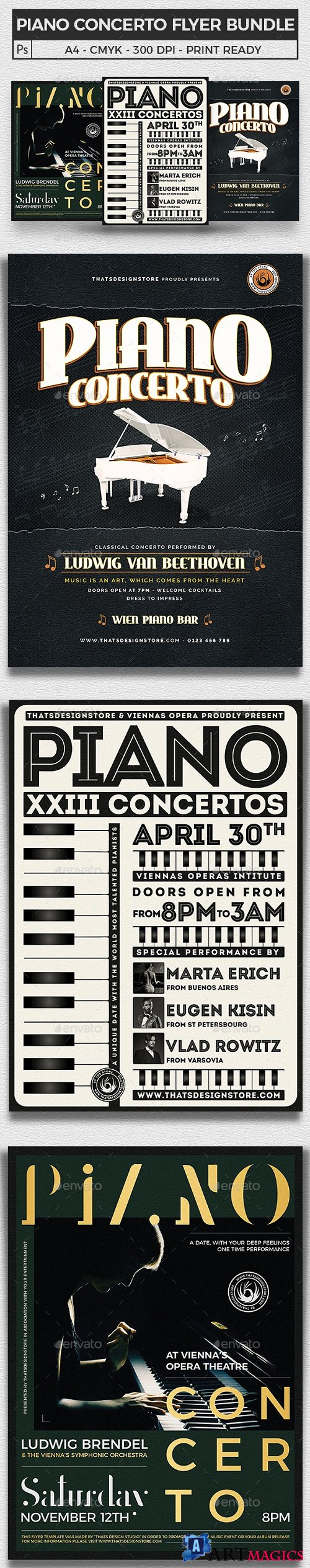 Piano Concerto Flyer Bundle - 21964267 - 2570953