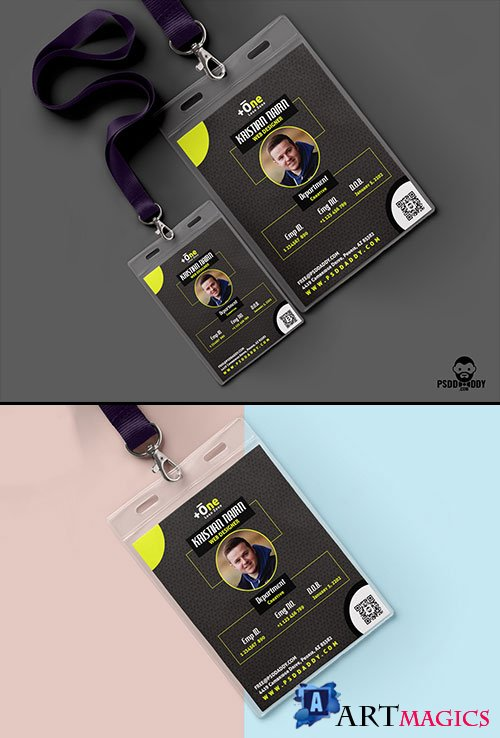 Office Identity Card PSD