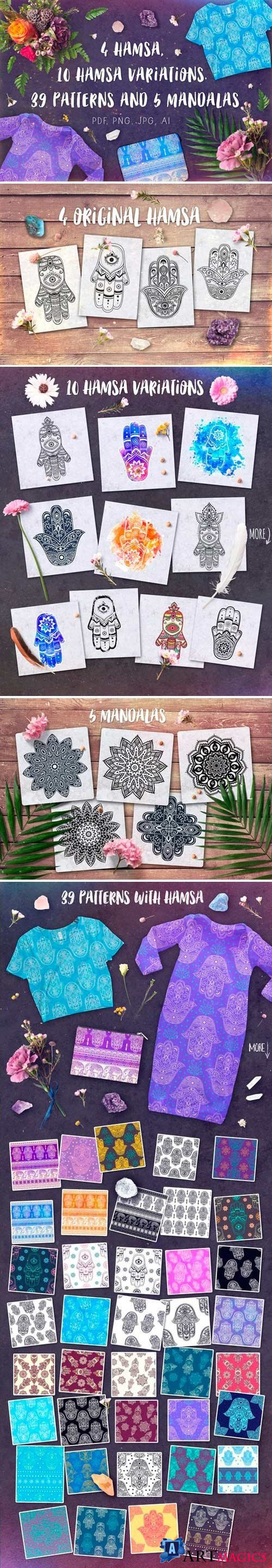 Hamsa set | 54 elements 2518077