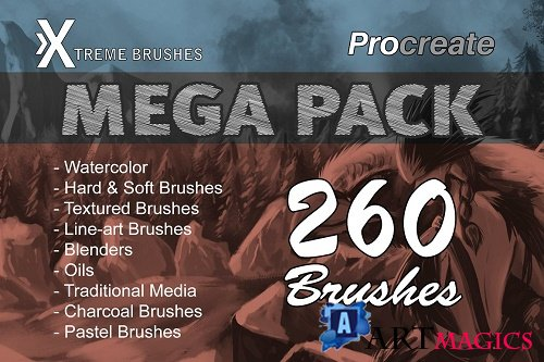 Procreate MEGA PACK 2609070
