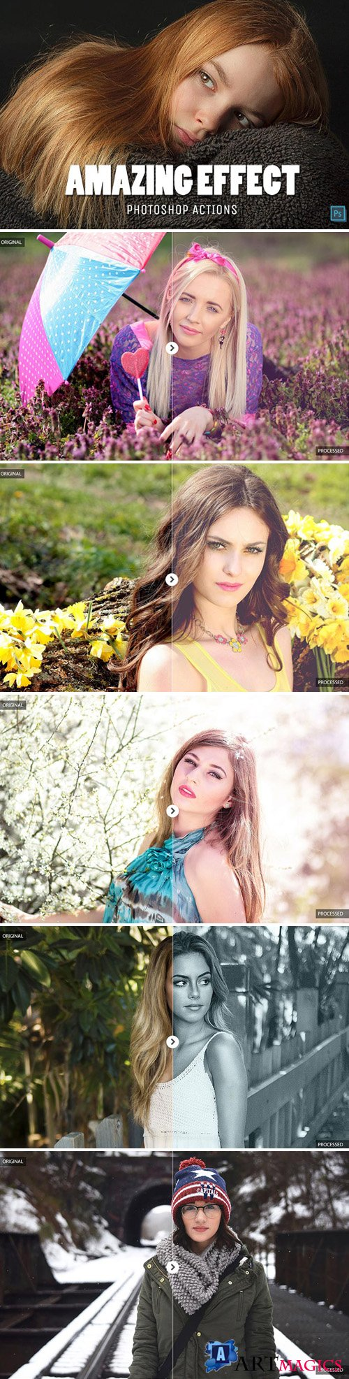 30 Amazing Effect Photoshop Actions