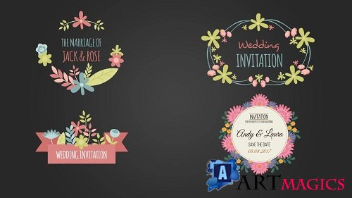 10 Floral Frame for Wedding Day 70300 - After Effects Templates