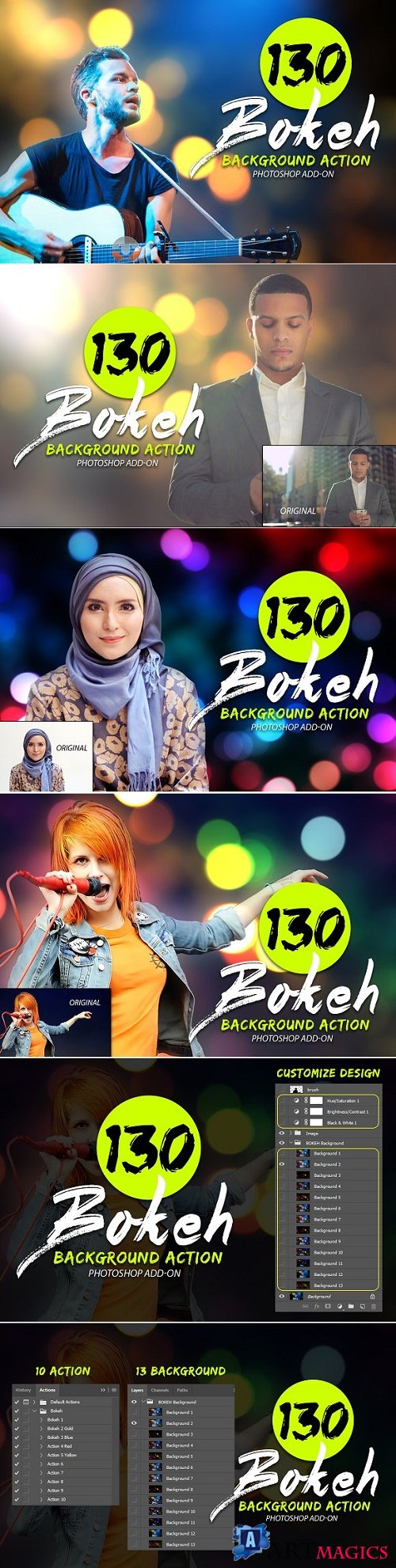 130 Bokeh Photoshop Action - 2025195