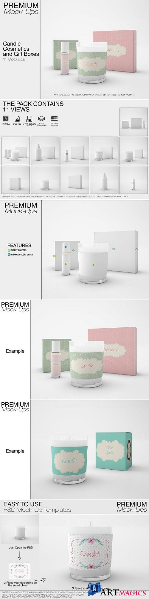 Candle, Cosmetics & Gift Boxes Set - 2611939