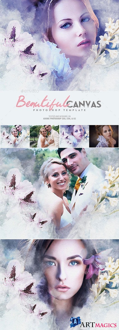 Beautiful Canvas Photoshop Template 22149280