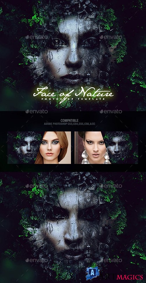 Face of Nature Photo Template 17675402