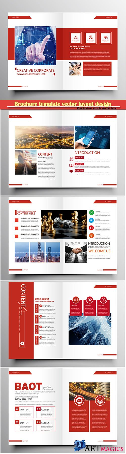 Brochure template vector layout design, corporate business annual report, magazine, flyer mockup # 179
