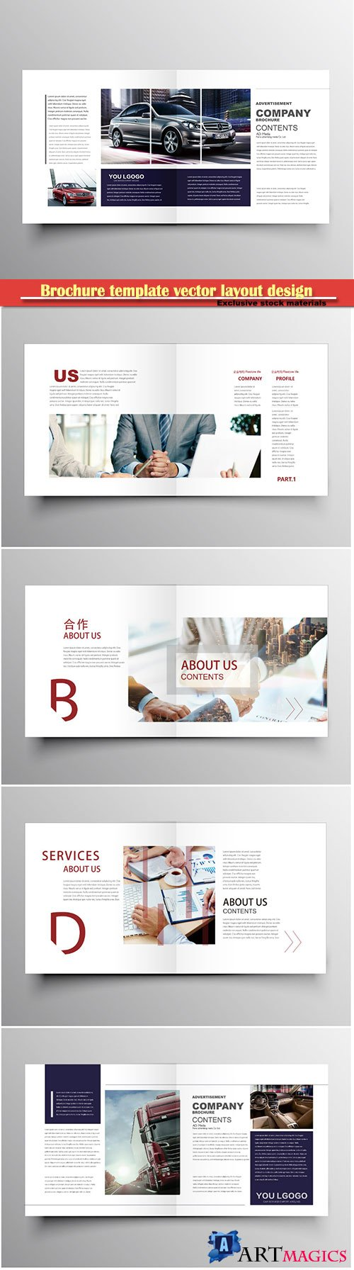 Brochure template vector layout design, corporate business annual report, magazine, flyer mockup # 180