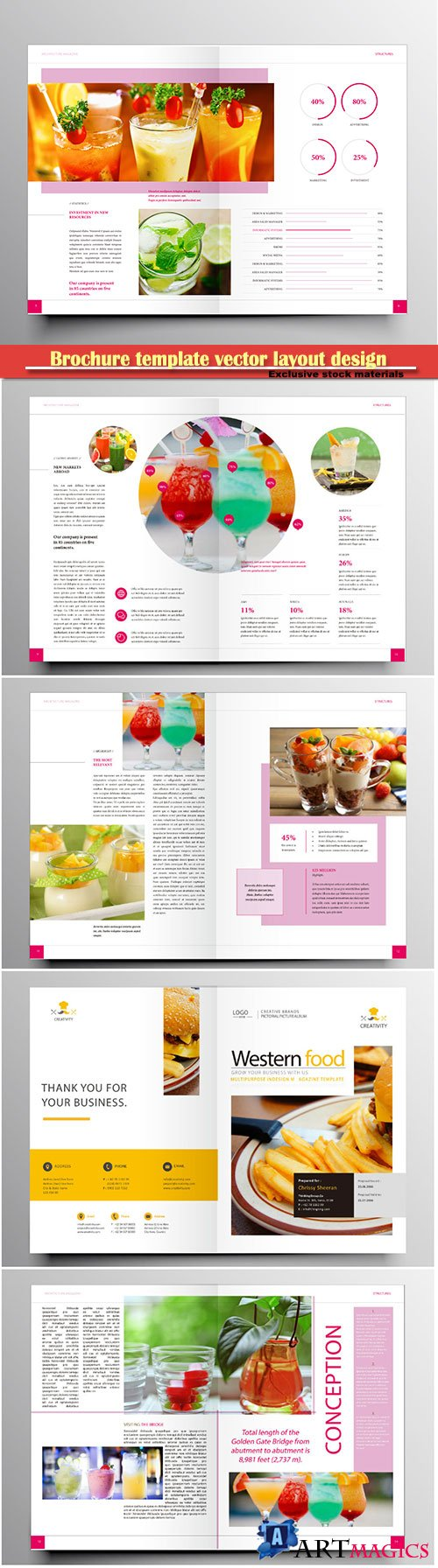 Brochure template vector layout design, corporate business annual report, magazine, flyer mockup # 183