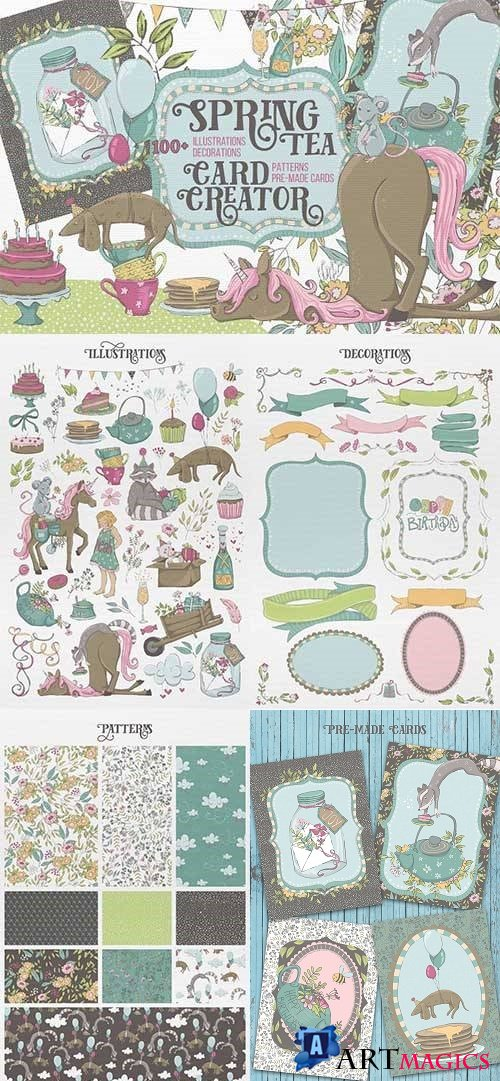Spring Tea Card Creator - 2414427
