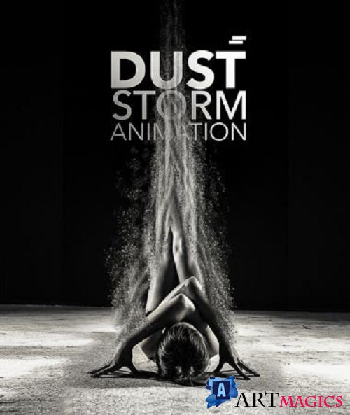 Dust Storm Animation Photoshop Action 21756012