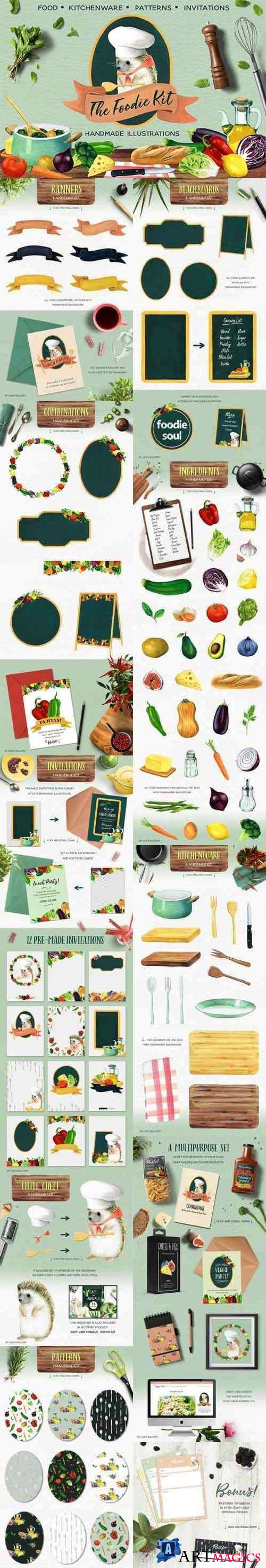 The Foodie Kit - Food Illustrations 2417867