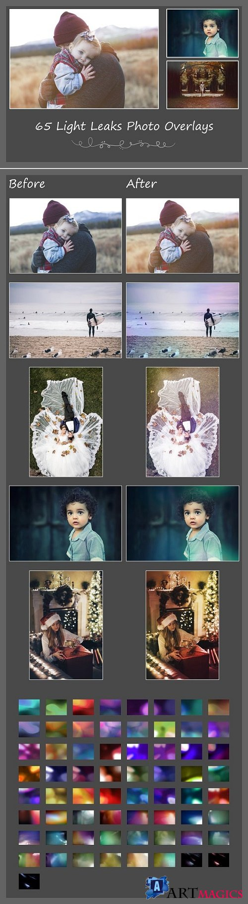 65 Light Leaks Photo Overlays - 2735344