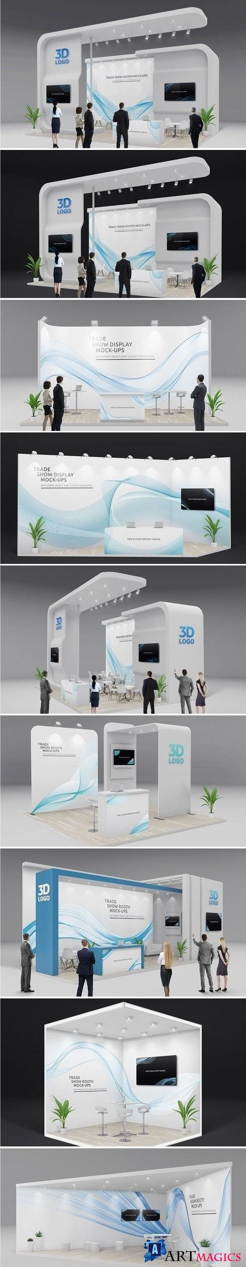 Trade Show Booth Displays Mock-Ups Vol2